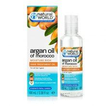 روغن آرگان ارگانیک نچرال ورلد انگلیسی اصل Natural World Argan Oil | تقویتی و ترمیمی قوی ۱۰۰ میل