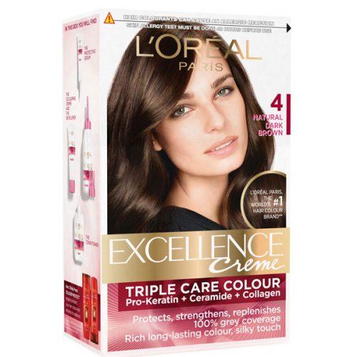کیت رنگ مو لورال مدل Excellence شماره 4