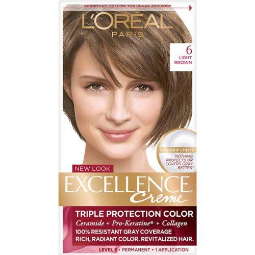 کیت رنگ مو لورال مدل Excellence شماره 6
