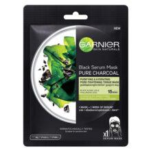 ماسک ورقه ای زغال و چای سیاه گارنیر اصل | کوچک کننده منافذ باز پوست