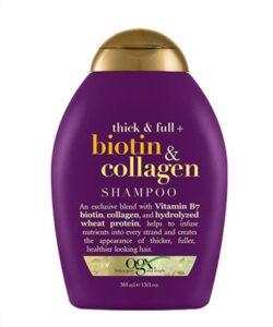 شامپو او جی ایکس OGX اصل بیوتین و کلاژن | ترمیم کننده و ضخیم کننده تارهای مو