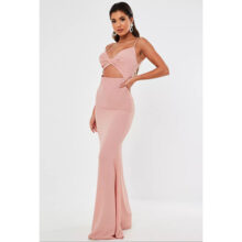 برند Missguided  مدل blush twist front cut out maxi dress