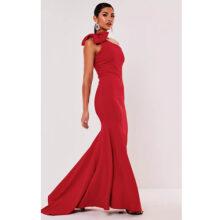 برند Missguided  مدل one shoulder bow maxi dress