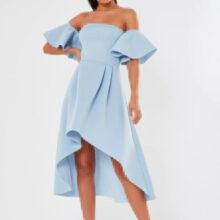 برند Missguided  مدل bardot high low scuba midi dress