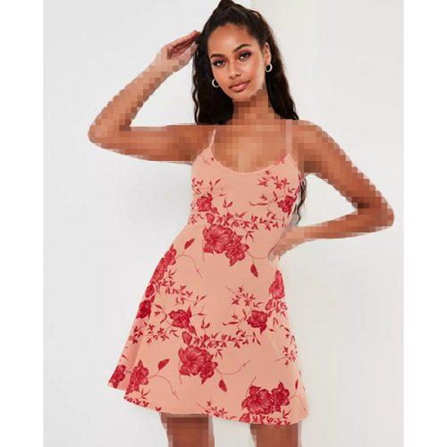 برند Missguided مدل pink floral print cami skater dress