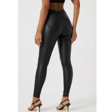 برند Missguided مدل  tall black vice high waisted coated skinny jeans