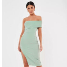 برند Missguided  مدل one shoulder crepe midi dress