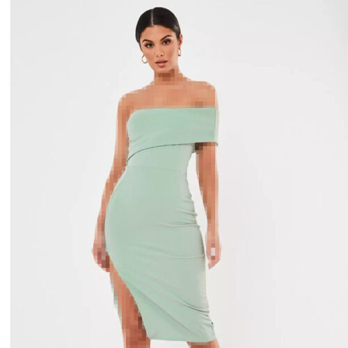 برند Missguided مدل one shoulder crepe midi dress