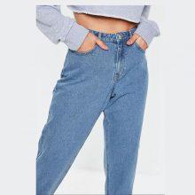 برند Missguided مدل blue riot high waisted rigid mom jeans