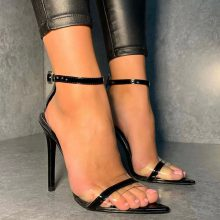 کفش ELECTRA برندLuxe to kill مدل Electra Perspex Heels In Black Vegan Leather
