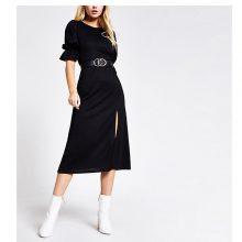 برند River Island مدل Black split midi dress