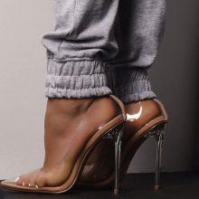 کفش Farrah برند Ego مدل Farrah Perspex Court Clear Heel In Nude Patent