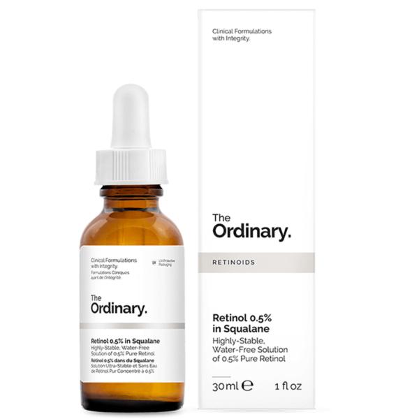 سرم اوردینری رتینول 0.5% 30 میل | جوانساز و ضد چروک و ضد لک پوست | The Ordinary Retinol Serum 0.5% in Squalane