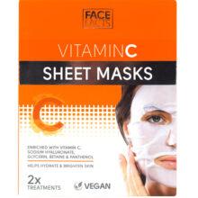 شیت ماسک ویتامین سی فیس فکت انگلیس | Face Facts Vitamin C Sheet Mask