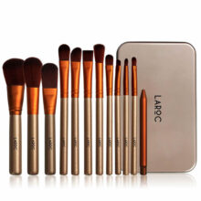 ست براش ۱۲ عددی لاروک | LAROC 12 PIECE BRUSH SET Gift Tin Set