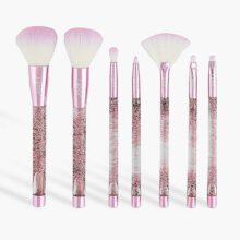 ست براش اکلیلی صورتی ۷ عددی لاروک |  LAROC 7 piece glitter brush set – pink Gift  Set