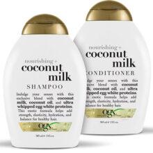 پک شامپو و نرم کننده شیر نارگیل او جی ایکس OGX اصل  | مغذی و نرم کننده فوق العاده مو