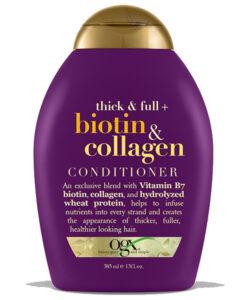 نرم کننده او جی ایکس OGX اصل بیوتین و کلاژن | ضد ریزش و ضخیم کننده تارهای مو
