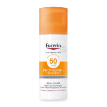 فلوئید ضد آفتاب و ضد چروک SPF50 اوسرین | Eucerin Sun Face Anti-Age Fluid SPF50 50ml