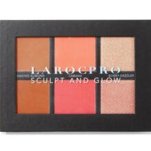 پالت رژ گونه و هایلایتر لاروک انگلیس | LaRoc PRO Sculpt and Glow Face Palette