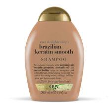 شامپو کراتین برزیلی او جی ایکس ۳۸۵ میلی |OGX Ever Straightening + Brazilian Keratin Shampoo  | بدون سولفات، صاف کننده قوی مو
