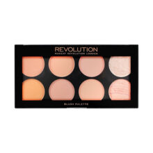 پالت رژگونه وکانتور رولوشن مدل Revolution Ultra Blush Palette Hot Spice | مات و شاین ۸ رنگ