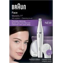 اپیلاتور دوکاره کوچک و باتریخور صورت Braun به همراه برس پاک کننده صورت