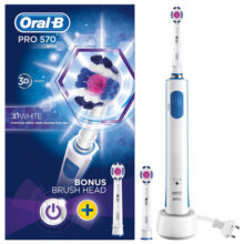 مسواک برقی اورال بی مدل ۳D White | سفید کردن، جلا دادن و براق کردن دندان