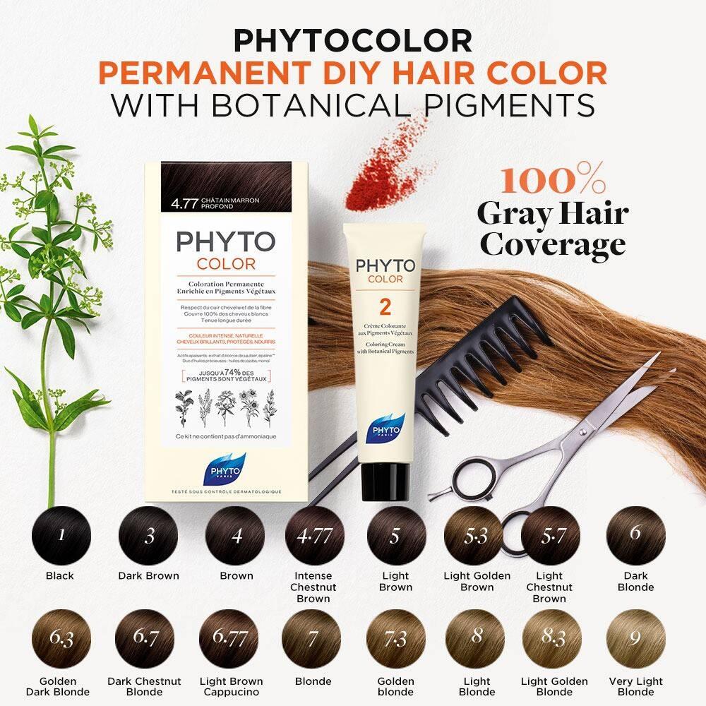 رنگ موی بدون آمونیاک فیتو کالر شماره 4