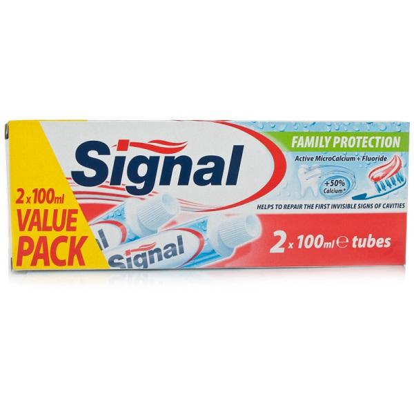 خمیر دندان محافظتی سیگنال دو عددی
