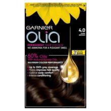 کیت رنگ موی مدل اولیا گارنیر شماره ۴ (جدید) | بدون آمونیاک، گیاهی، درخشان کننده