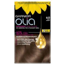 کیت رنگ موی مدل اولیا گارنیر شماره ۶ (جدید) | بدون آمونیاک، گیاهی، درخشان کننده