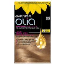 کیت رنگ موی مدل اولیا گارنیر شماره ۸ (جدید) | بدون آمونیاک، گیاهی، درخشان کننده