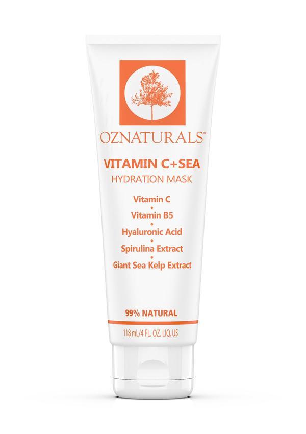 ماسک ویتامین سی و آبرسان دریایی آزنچرال (ماسک ویتامین C و هیالورونیک اسید OZ Naturals)