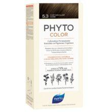 رنگ موی بدون آمونیاک فیتوکالر شماره ۵.۳ (جدید) | رنگ موی دائمی و گیاهی Phyto Phytocolor