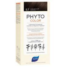 رنگ موی بدون آمونیاک فیتوکالر شماره ۵.۷ (جدید) | رنگ موی دائمی و گیاهی Phyto Phytocolor