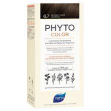 رنگ موی بدون آمونیاک فیتوکالر شماره ۶.۷ (جدید) | رنگ موی دائمی و گیاهی Phyto Phytocolor