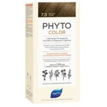 رنگ موی بدون آمونیاک فیتوکالر شماره ۷.۳ (جدید) | رنگ موی دائمی و گیاهی Phyto Phytocolor
