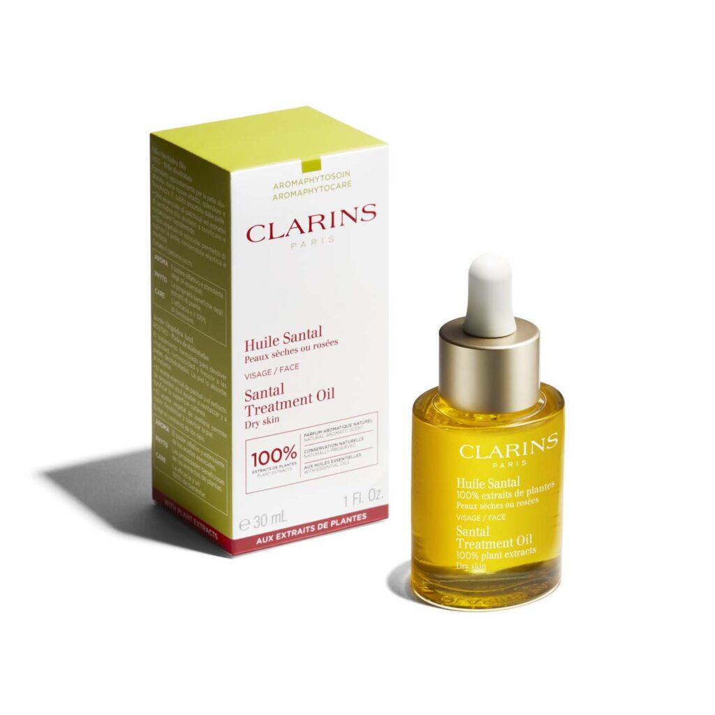 روغن درمانی چوب صندل کلارنس برای پوست خشک (روغن چوب صندل و فندق 100% خالص کلارینس Clarins)