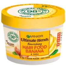 ماسک موی موز سری هیرفود گارنیر اصل | تغذیه کننده و نرم کننده موهای خشک | ۳۹۰ میل