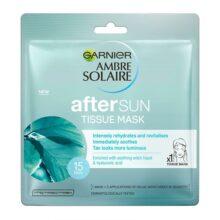 ماسک ورقهای پس از آفتاب Ambre Solaire گارنیر اصل | آبرسان قوی، خنک کننده و آرامشبخش پوست