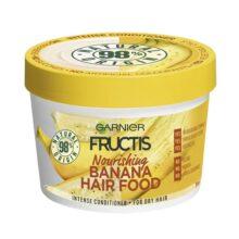 ماسک موی موز سری هیرفود گارنیر (hair food) | تغذیه کننده و نرم کننده موهای خشک | ۳۹۰ میل