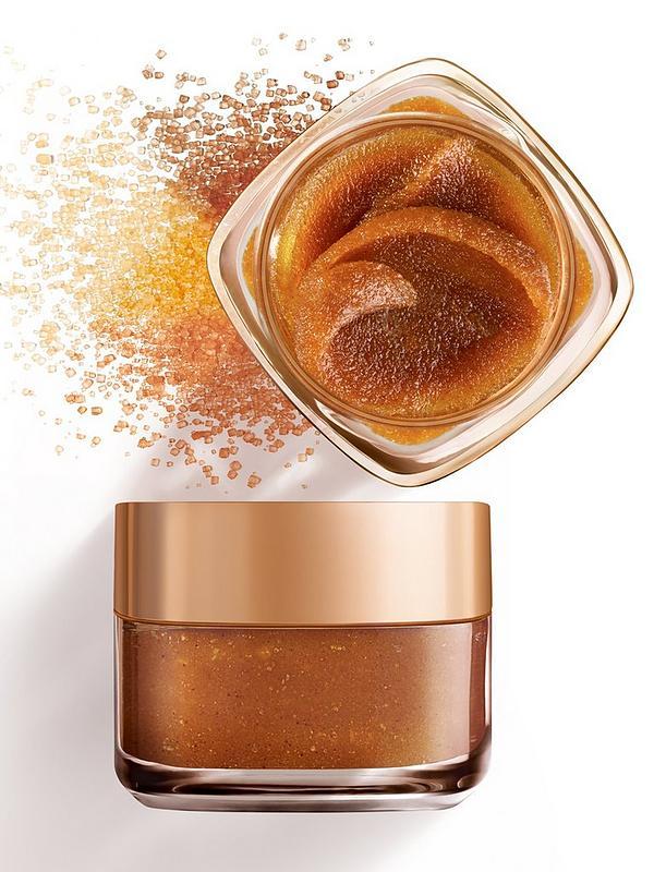 ماسک اسکراب شکر قهوهای لورال پاریس (اسکرب شکر لایه بردار لب و صورت لورآل Sugar Glow)