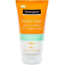 ژل شستشو و ماسک ضد لک و منافذ پوست نیتروژنا (نوتروژینا) (شوینده 2 در 1 Visibly Clear Spot Proofing نوتروژنا)