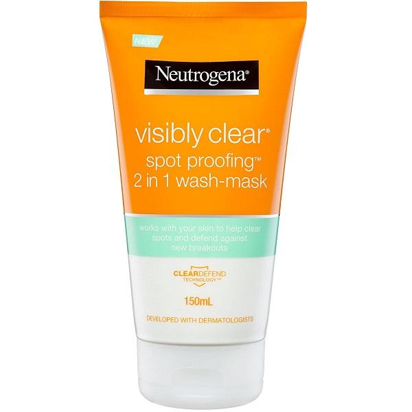 ژل شستشو و ماسک ضد لک و منافذ پوست نیتروژنا (شوینده 2 در 1 Visibly Clear Spot Proofing نوتروژنا)