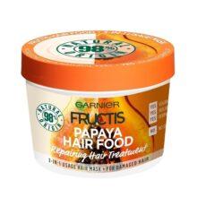 ماسک موی پاپایا سری هیرفود گارنیر (hair food)   تغذیه کننده و نرم کننده موهای آسیب دیده   ۳۹۰ میل