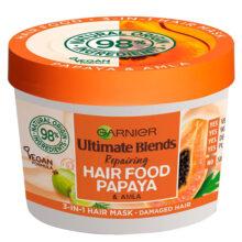 ماسک موی پاپایا سری هیرفود گارنیر اصل | تغذیه کننده و نرم کننده موهای آسیب دیده | ۳۹۰ میل