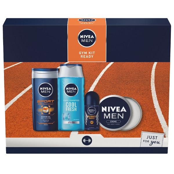 ست هدیه محصولات بهداشتی مردانه نیوآ (ست 4 عددی مناسب بعد از باشگاه NIVEA )