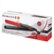 اتو مو حرفهای S6755 رمینگتون اصل | صاف کننده و فرکننده مو (نسخه منچستر یونایتد)