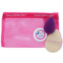 ست کیف و لوازم ضروری بیوتی بلندر (Beauty blender) | حاوی پاک کننده، اسفنج، پاف آرایشی و کیف دستی